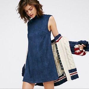 NEW Free People Lenni faux suede dress Sz M
